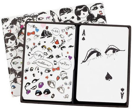 La baraja de cartas Lanvin con bocetos de Alber Elbaz