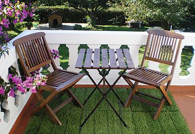 Losetas de c sped artificial con soporte de madera - Ikea ideas jardin pau ...