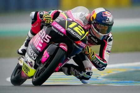 Filip Salac es el más rápido en unos húmedos y fríos entrenamientos libres de Moto3 en Le Mans