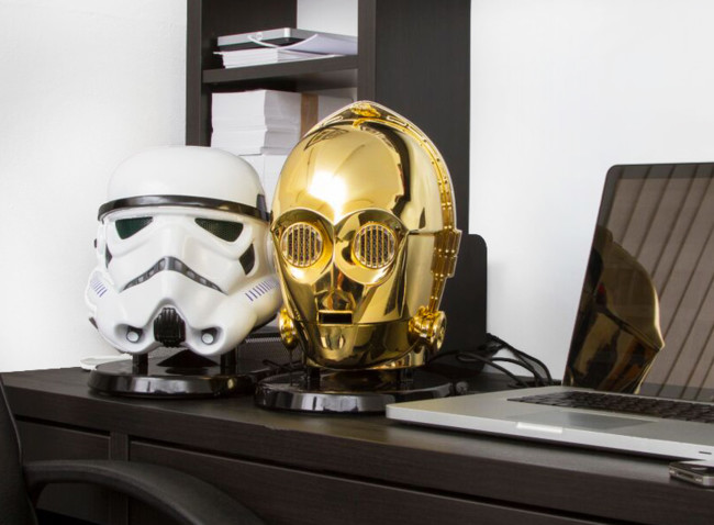 Star Wars Audio System Gold Plated C3po Stormtrooper Heads
