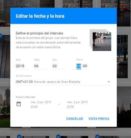Google Photos Fecha Hora