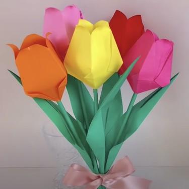Manualidades para el Día de la Madre: 25 ramos de flores de origami o papiroflexia para regalar a mamá