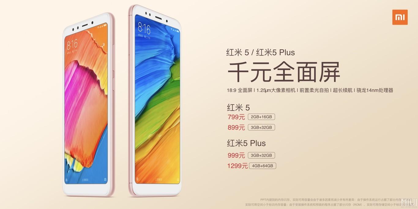 Xiaomi Redmi 5 Precio
