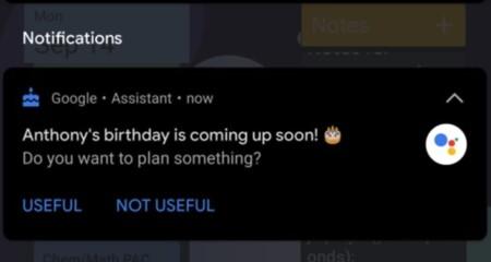 El Asistente de Google ya empieza a avisarte de los cumpleaños de tus amigos y contactos