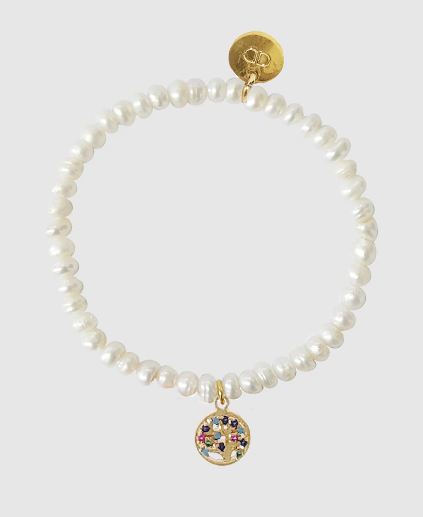 Pulsera Dada Burma Árbol de la Vida con perlas