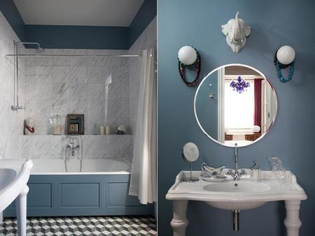 Una casa en San Petersburgo con toques azules