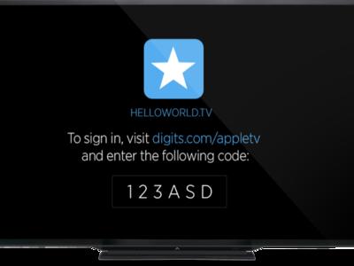 Digits for tvOS, el sistema de verificación de Twitter añade soporte para el Apple TV