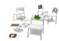 A3 chair, el respaldo de la silla se decora con dibujos