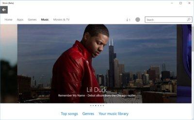 La tienda de música de Windows 10 ya está disponible