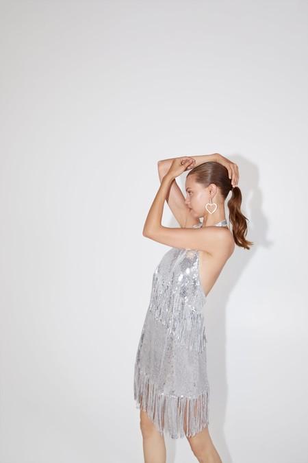 Vestido Plateado Zara 10