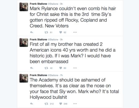 Frank Stallone en Twitter