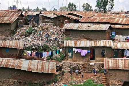 Kibera Nairobi Kenya Slums Shanty Town October 2008