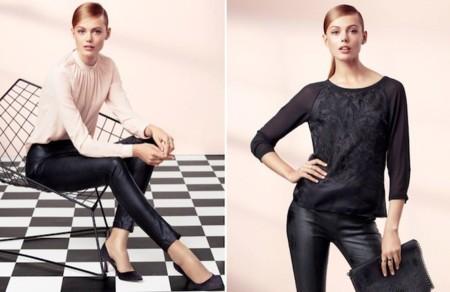 h&m elegancia 2013 pantalones cuero