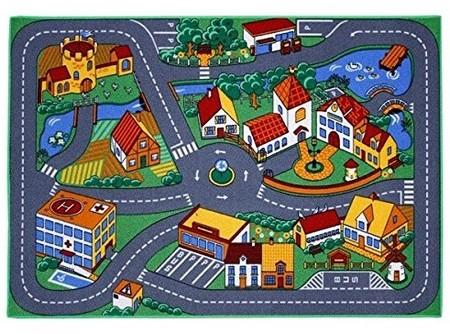 Alfombra infantil para jugar, diseño de ciudad con carreteras por sólo 12 euros
