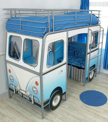 Caravana cama para el dormitorio infantil