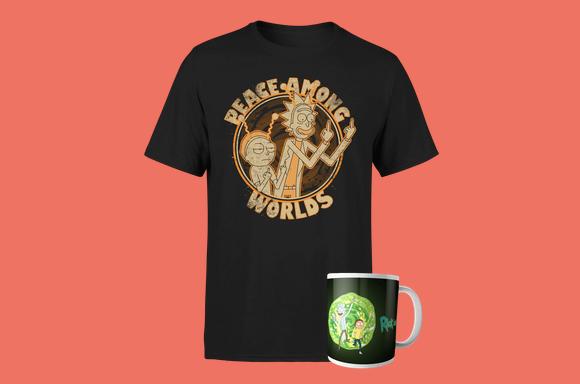 Camiseta y taza de 'Rick y Morty' a elegir