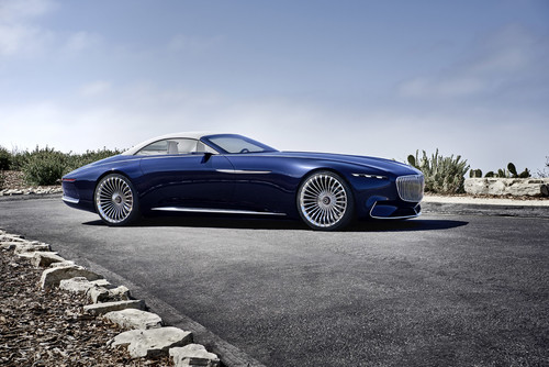 Vision Mercedes-Maybach 6 Cabriolet: un lujoso superyate para la carretera, en Pebble Beach