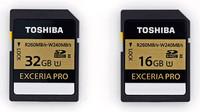 Toshiba Exceria PRO y Exceria 1 a velocidades de 240 MB/s