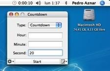 Countdown: Cuenta atrás y alarma, que puede ejecutar aplicaciones o abrir documentos