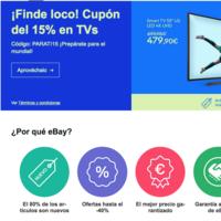 Finde loco en eBay: 15% adicional en televisores con este código de descuento