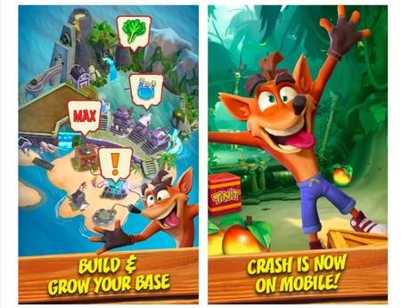 Crash Bandicoot Mobile Screen