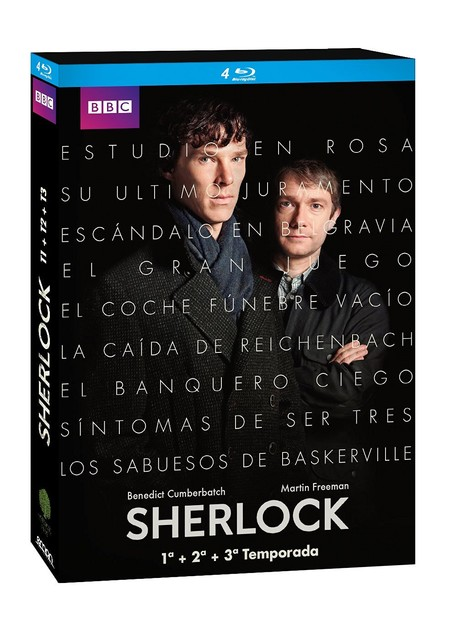 La serie completa Sherlock, en blu-ray, por 24,98 euros en Amazon