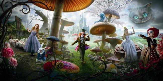 Imagen con el cartel de 'Alicia en el país de las maravillas'