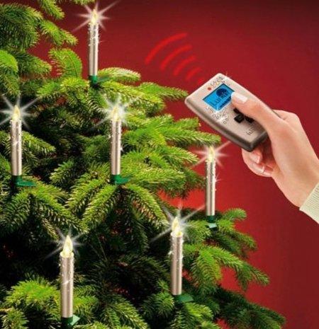 ¡Velas de Navidad sin cables!