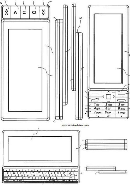 Teléfono de Nokia con triple teclado deslizante