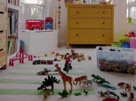 Diez ideas para decorar un cuarto de juegos - Alfombra habitacion nino ...