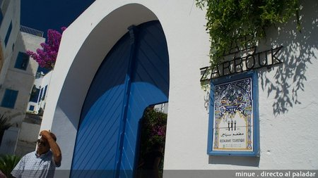 Restaurante Dar Zarrouk en Sidi Bou Said, Túnez