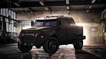 Esta bestial pick-up blindada se llama Inkas Sentry MPV  y está pensada para un uso militar y policial