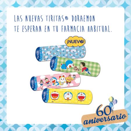 Las 'Tiritas' celebran su 60 aniversario con Doraemon