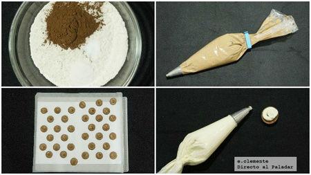 Whoopies de cacao y vainilla