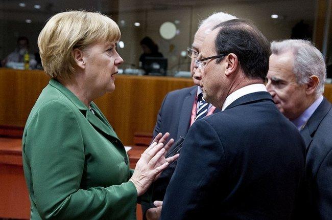 Hollande Merkel