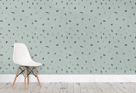 Simple Terrazzo Green Small Web