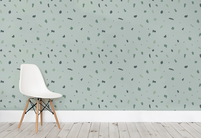 Simple Terrazzo Green Small Web