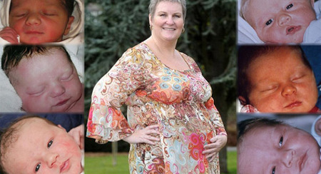 Una mujer de 47 años que alquila su vientre no deja de tener bebés porque es adicta al embarazo