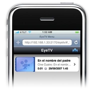 Acceso a las grabaciones de TV vía WiFi desde el iPhone o iPod touch, con el nuevo EyeTV