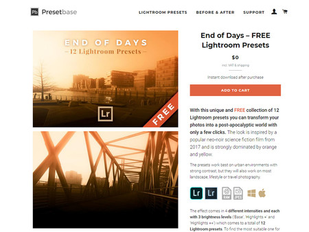 End Of Days Preset Lightroom Free Web