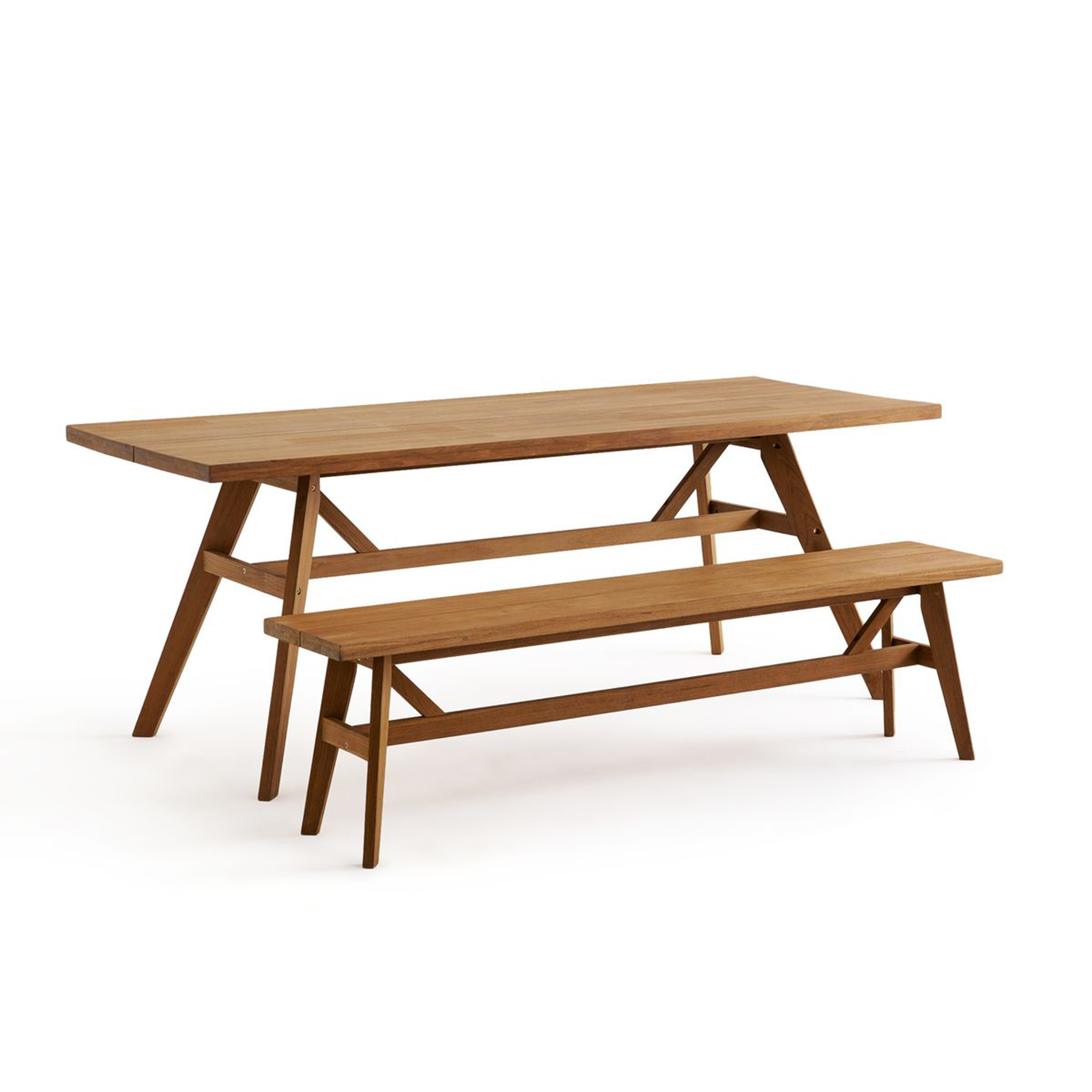 Banco de mesa de teca