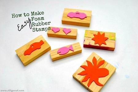 Manualidades con niños: tutorial para hacer sellos con espuma