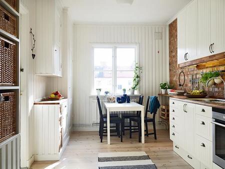 Espacios que inspiran: una cocina nórdica con aires urbanos