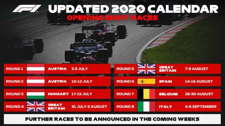 F1 Calendario 2020