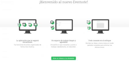 Evernote da un cambio de diseño radical en su versión web