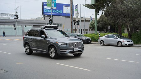 Uber Self Driving Volvo At Harrison At 4th