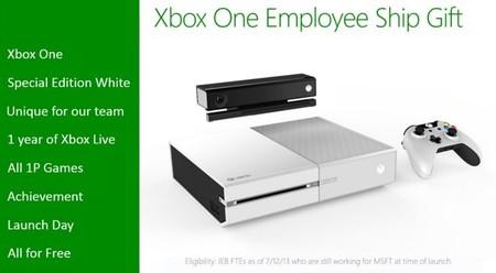 Xbox One  blanco, de regalo para algunos de los empleados de Microsoft