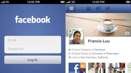 Facebook actualiza su aplicación de iPhone para incluir Timeline