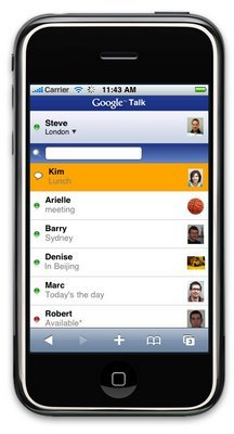 Google Talk en el iPhone