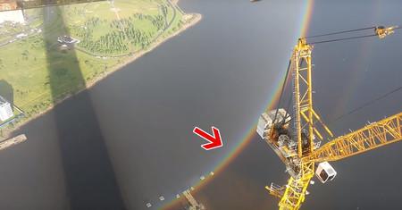 Resulta que los arcoiris son en realidad círculos y que son perfectamente visibles desde las alturas